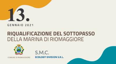 Prima fase degli interventi per la riqualificazione del sottopasso della Marina di Riomaggiore.