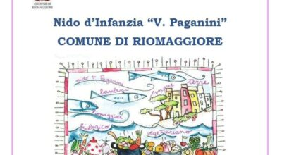 """Nido d'Infanzia """"V. Paganini"""" COMUNE DI RIOMAGGIORE – ANNO SCOLASTICO 2021 /2022 Iscrizioni aperte dal 19/04 al 19/05"""