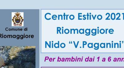 """CENTRO ESTIVO 2021 RIOMAGGIORE – NIDO """"V.PAGANINI"""""""