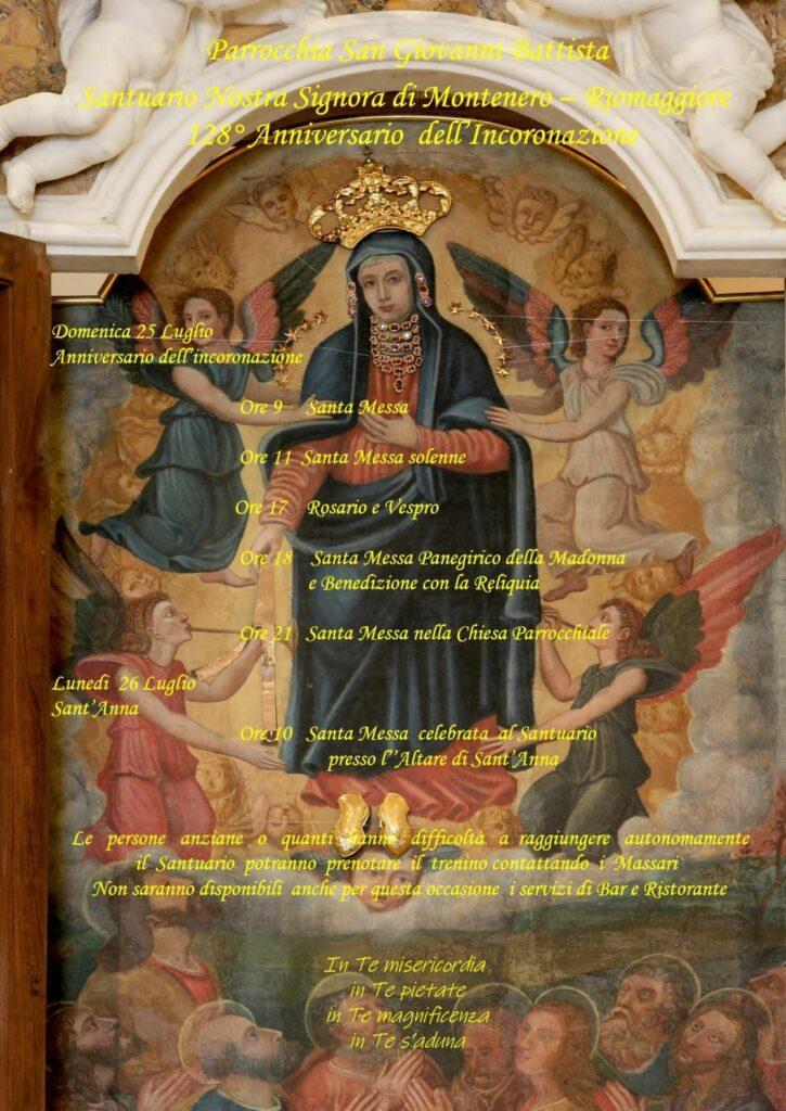 Parrocchia San Giovanni Battista Santuario Nostra Signora di Montenero – Riomaggiore: 128° Anniversario dell'Incoronazione